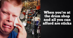 At the drum shop