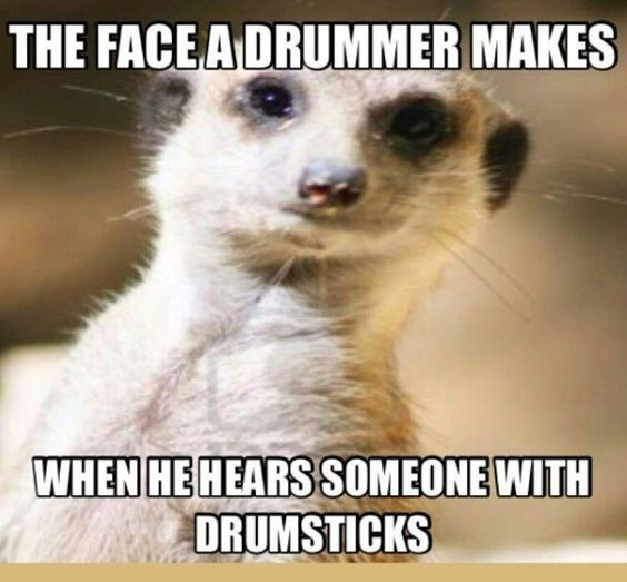 Face a drummer makes