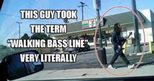 Walking bass line