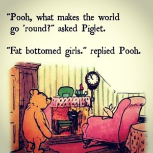 Fat bottomed pooh