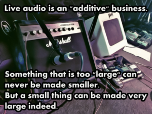 Audio is additive