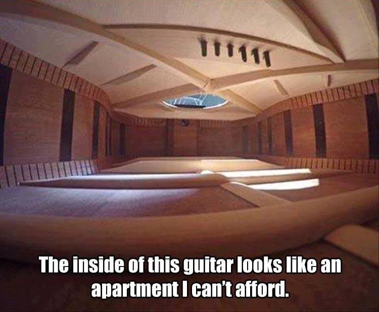 Apartment guitar