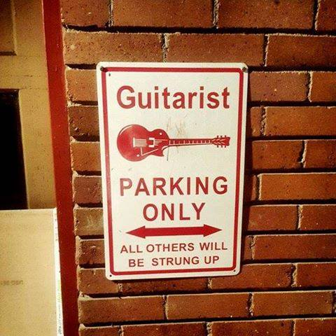 Guitarist parking only