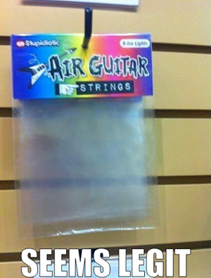 Air guitar strings