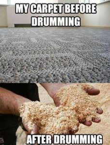 Carpet after drumming