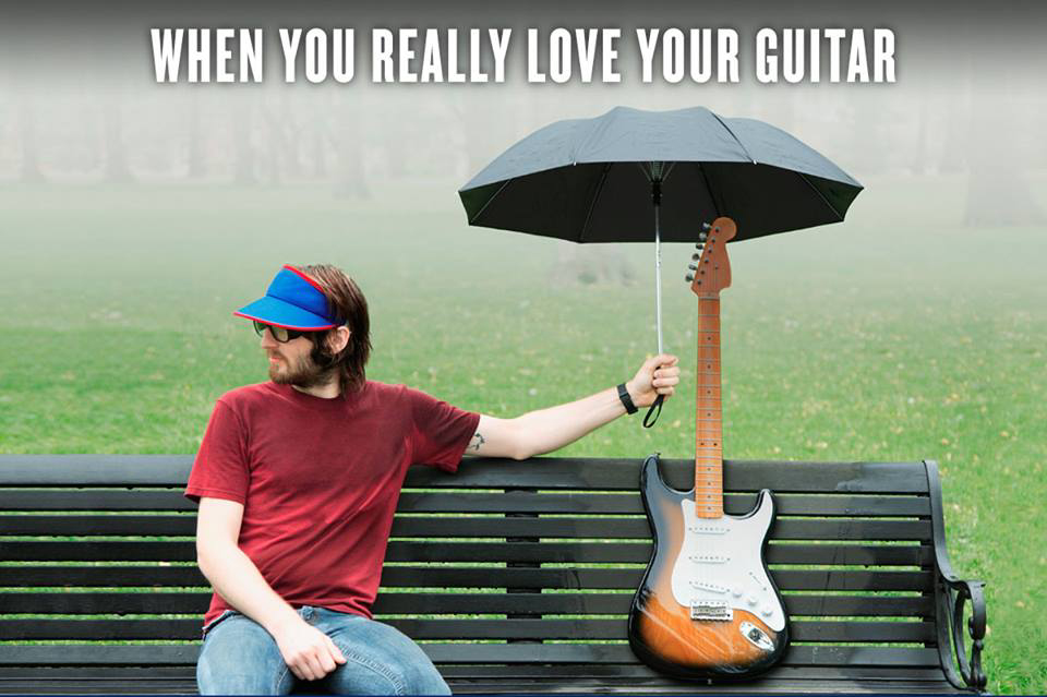 When you really love your guitar
