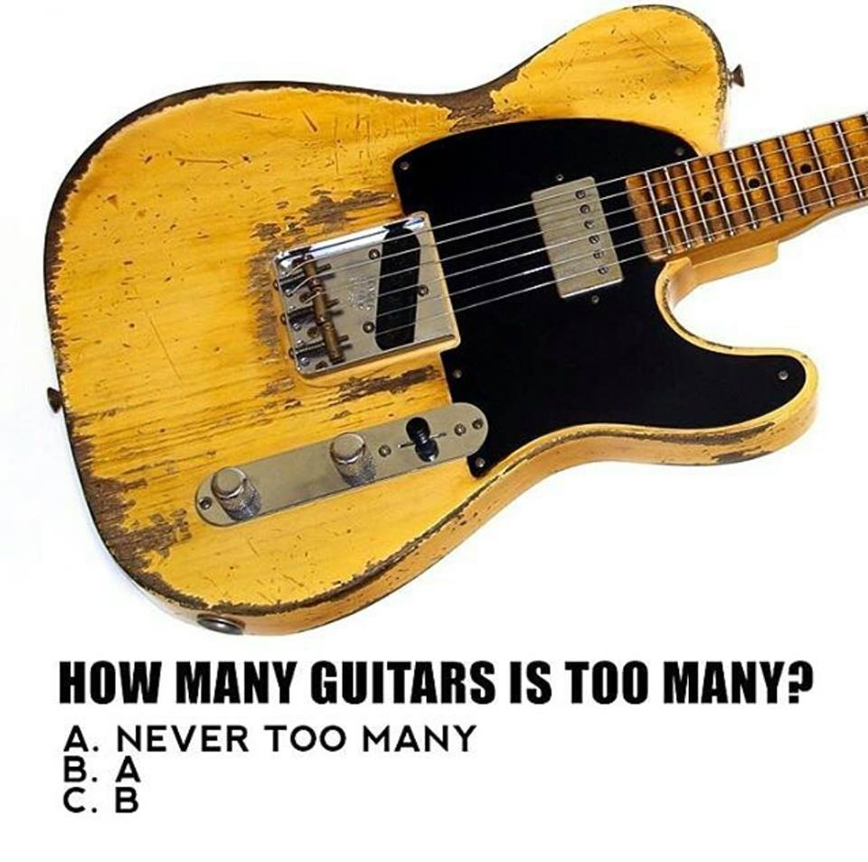 How many guitars is too many