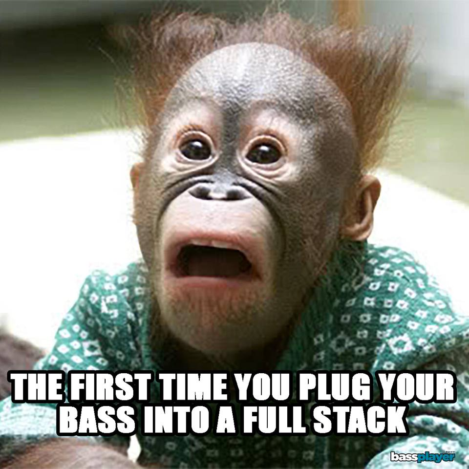 Plug bass into a full stack