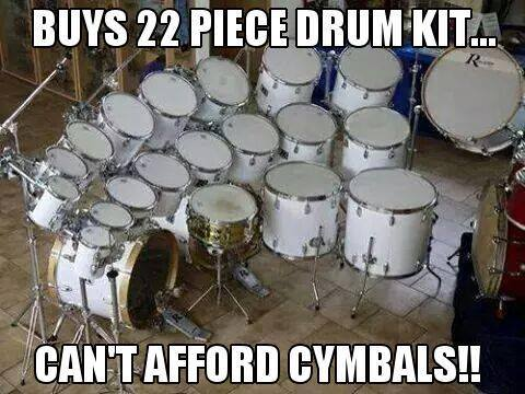 Can't afford cymbals