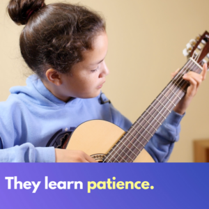 Children learn patience from music