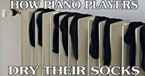 How piano players dry their socks