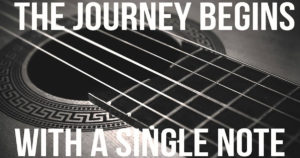 The journey begins with a single note
